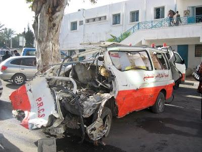Israel Even Destroys Palestinian Ambulances