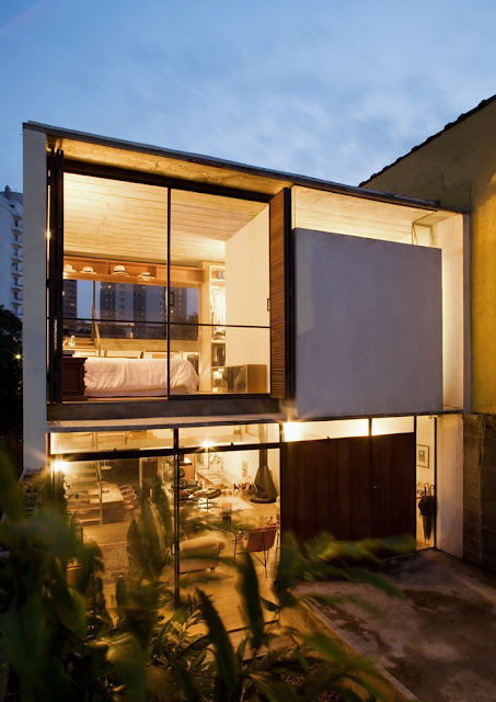 Three storey transparent house, Brazil