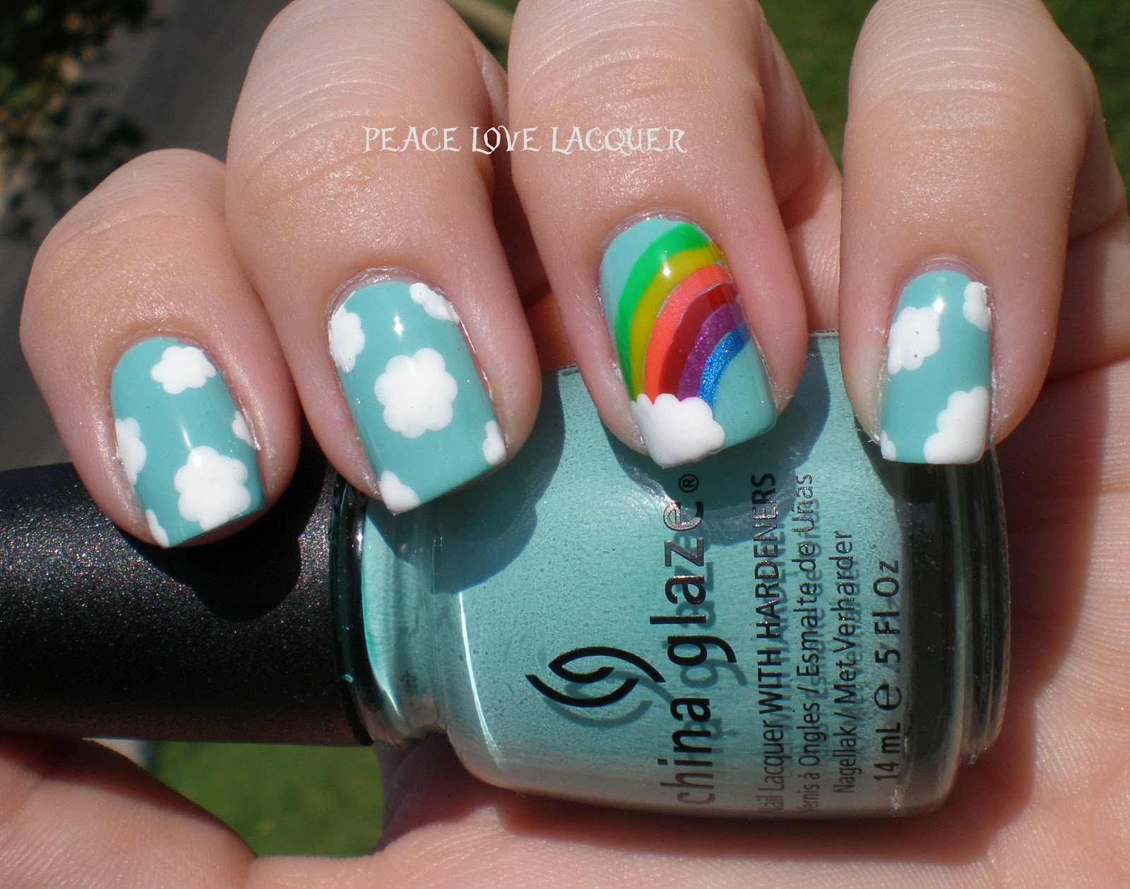 Peace Love Lacquer Nail Art Tutorial Rainbow Nails