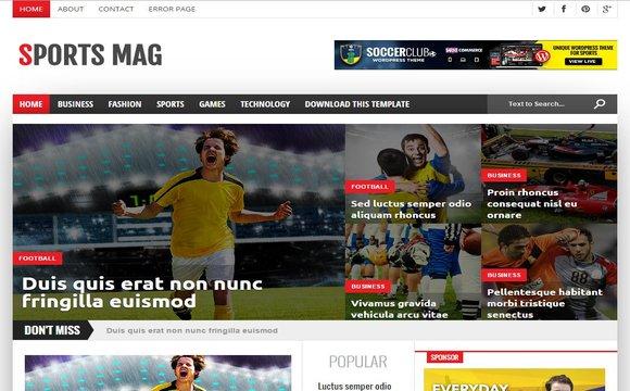 Sports Mag - Blogger Template tin tức thể thao đẹp
