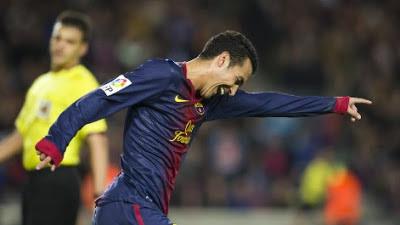 Pedro celebrando un gol