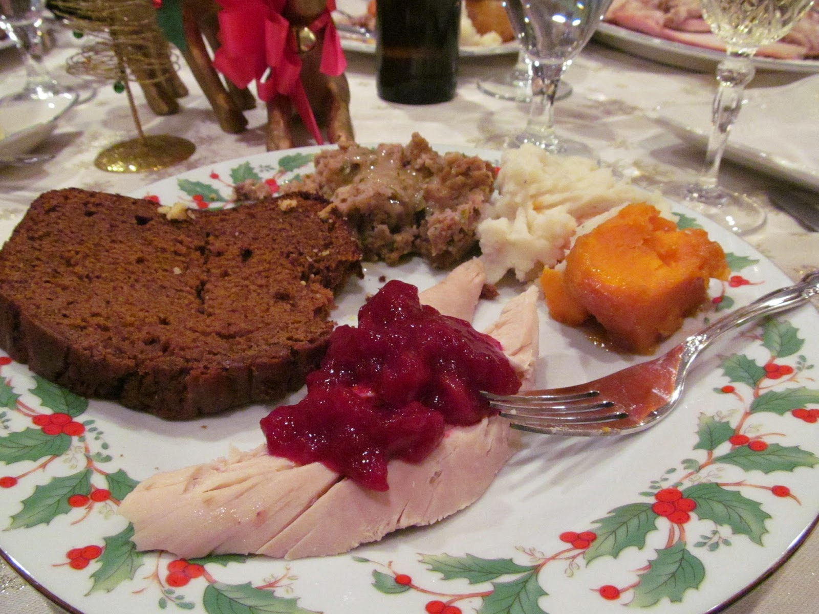 Delicious cranberry sauce served on turkey (c) Stormy Heart