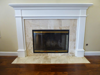 Travertine Fireplace I