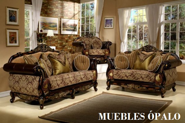 Palo muebles salas clasicas for Decoracion salas clasicas elegantes