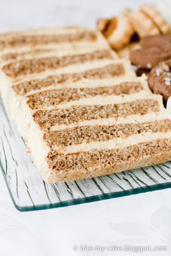 Torta od oraha i naranče / Walnut orange cake | Bite my cake
