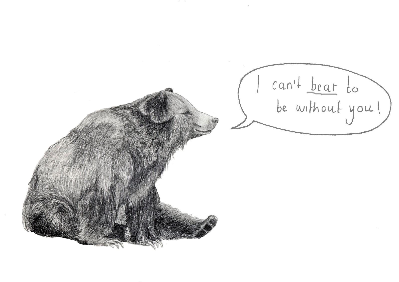 Sitting Bear Drawing /93992121/bear-print