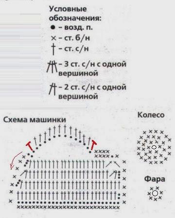 Схема вязания Аппликация