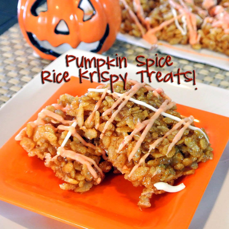 Mom, What's For Dinner?: Pumpkin Spice Rice Krispy Treats
