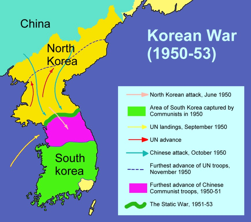 an analysis of the reasons for the korean war in 1950 1953 The korean war started in 1950 when the north, backed by the soviet union, invaded the south the us, wanting to stop the spread of communism, fought for the south, leading the united nations command.