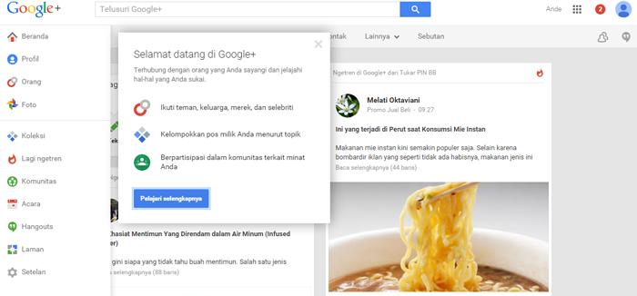 akun google+