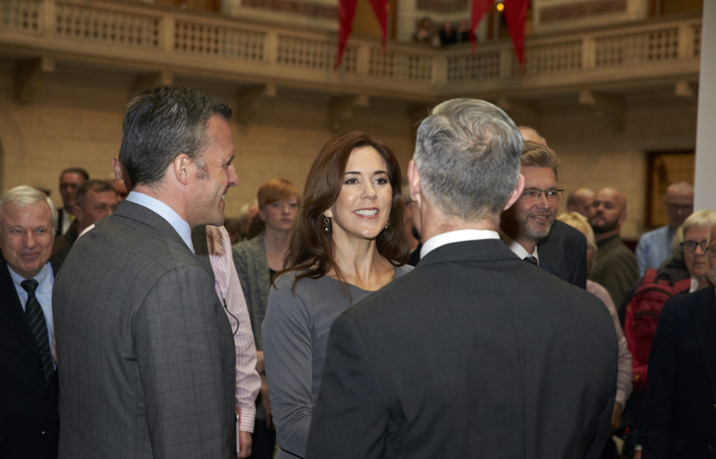Crown Princess Mary attended the opening of an exhibit celebrating the 25th anniversary of registered partnerships for same-sex couples