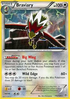 Braviary Plasma Storm Pokemon Card