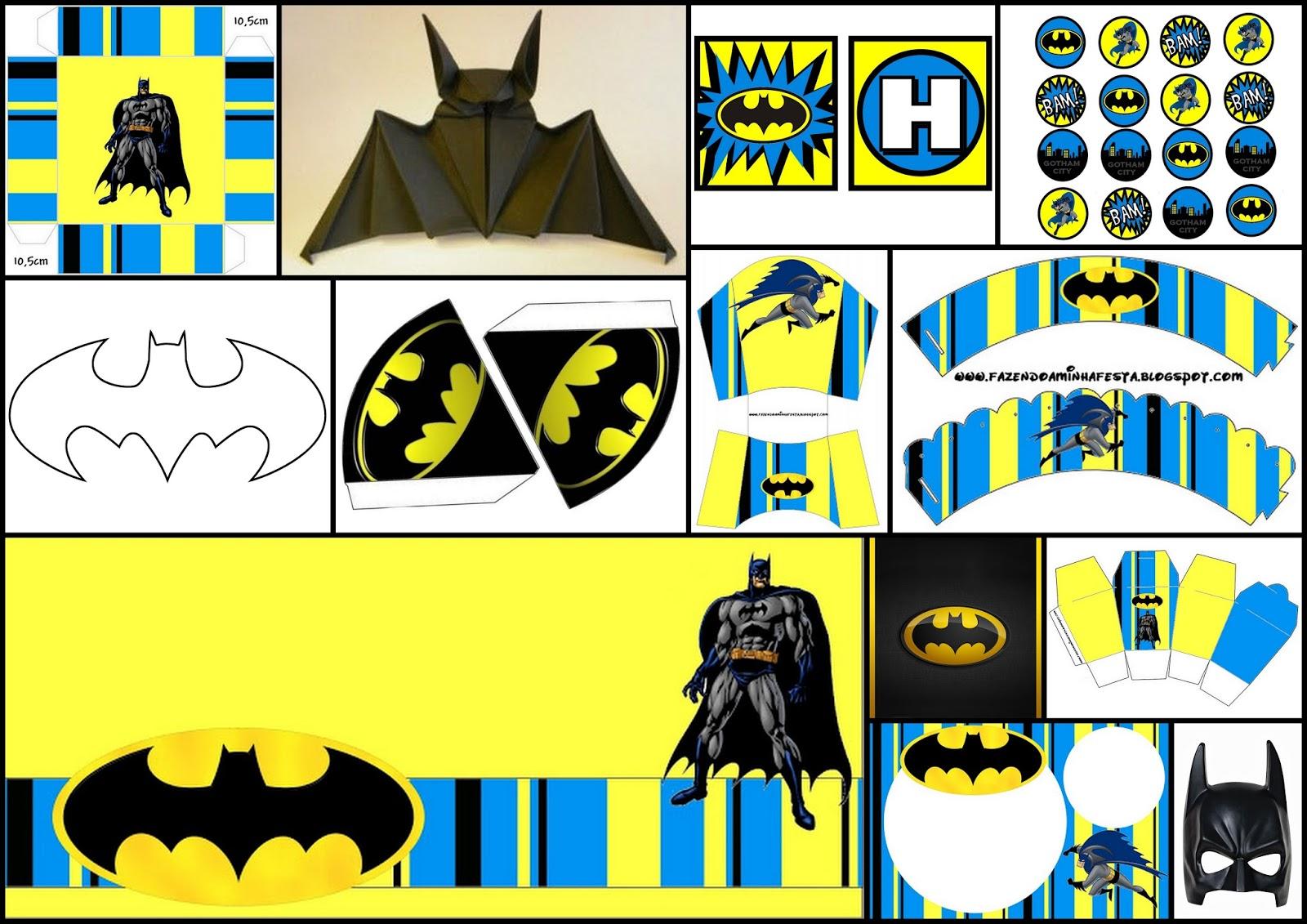 Batman: Decoración, Kits para Imprimir Gratis, Actividades, Paso a ...