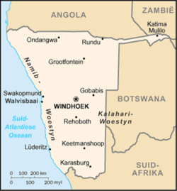 Namibia - map