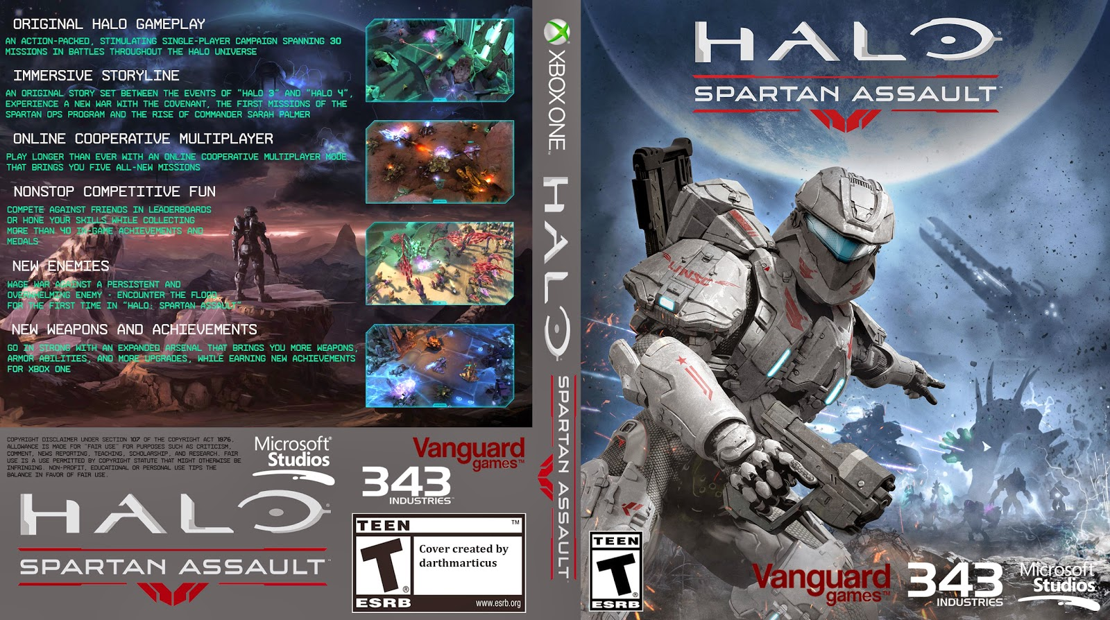 Capa Halo Spartan Assault Xbox One