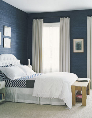 Webster road navy white bedrooms love for Blue and white bedroom wallpaper