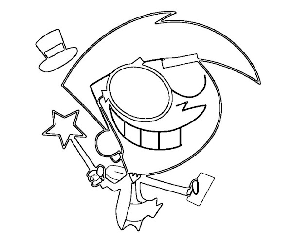 Fairly Oddparents Timmy Coloring Pages