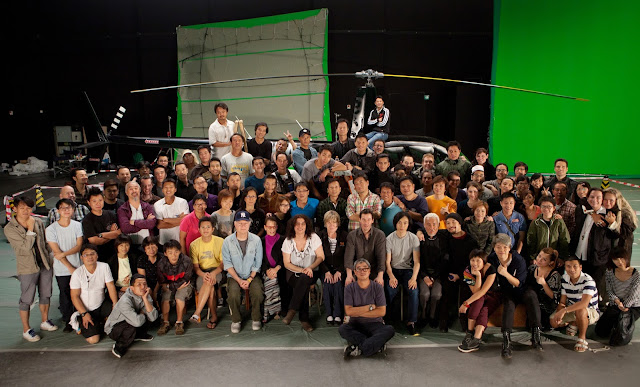 Spencer Douglass Keanu Reeves Man of Tai Chi Crew Photo