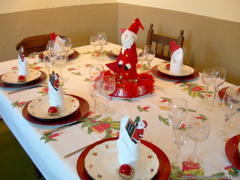 Decoracion de mesas mesa navidad de papa noel - Adornos para la mesa de navidad ...
