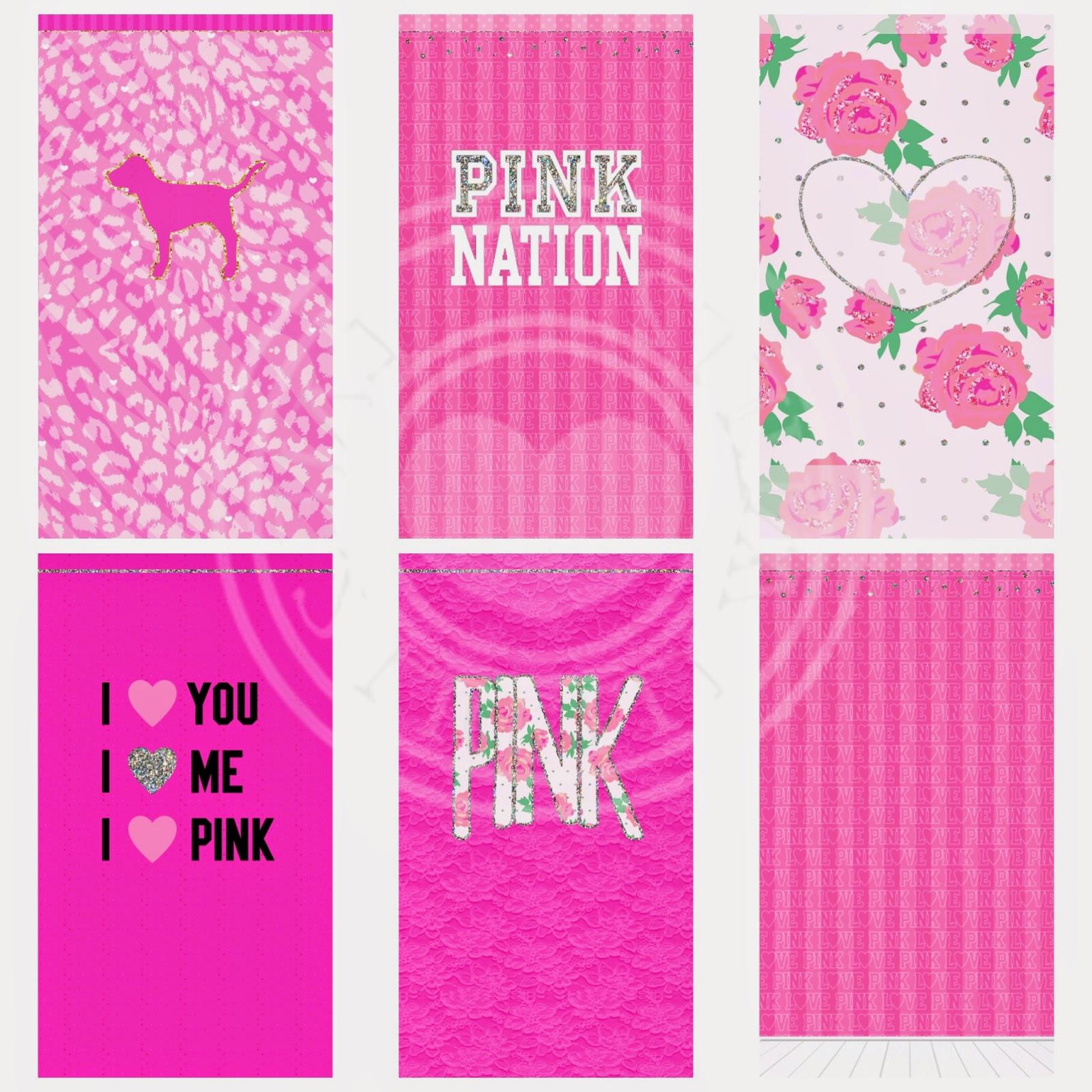 Pretty Walls PINK NATION 15 PIECE WALLPAPER SET