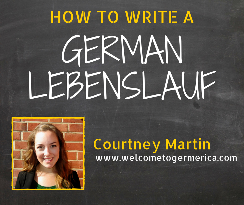 How to Write a German Lebenslauf