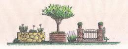 """.Paisagismo também é """"construir""""...Com pedra,madeira,tijolo...etc..."""