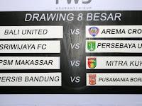 Hasil Drawing Jadwal 8 Besar Piala Presiden 2015