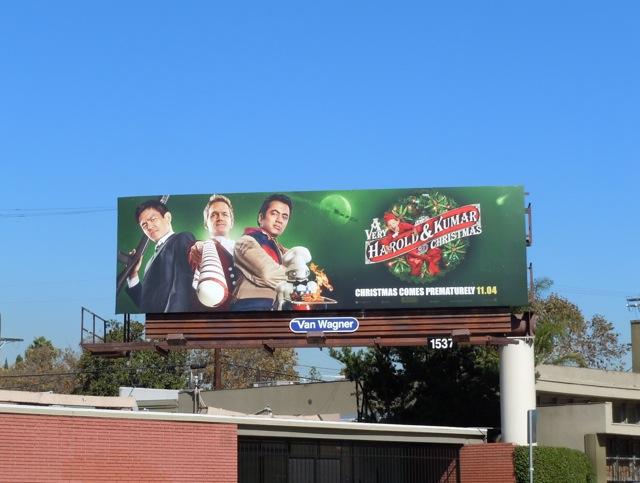 A Very Harold & Kumar Christmas 3D billboard
