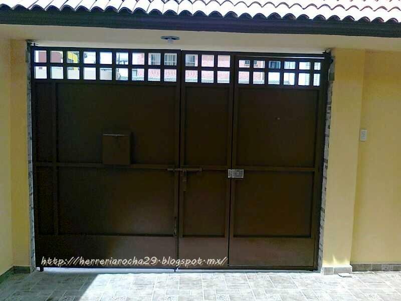 Ventanas y puertas de aluminio y herreria car interior for Puerta zaguan aluminio