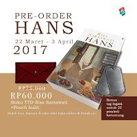 [Preorder] HANS – RISA SARASWATI EDISI TTD + Pouch Kulit Periode : 22 Maret – 3 April 2017
