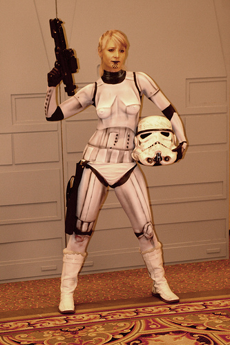 body painted star wars trooper