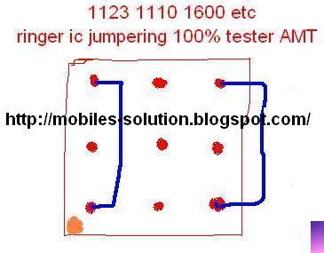 Nokia 1110-Nokia 1123 - Nokia 1600 Ringer ic Solution or ways