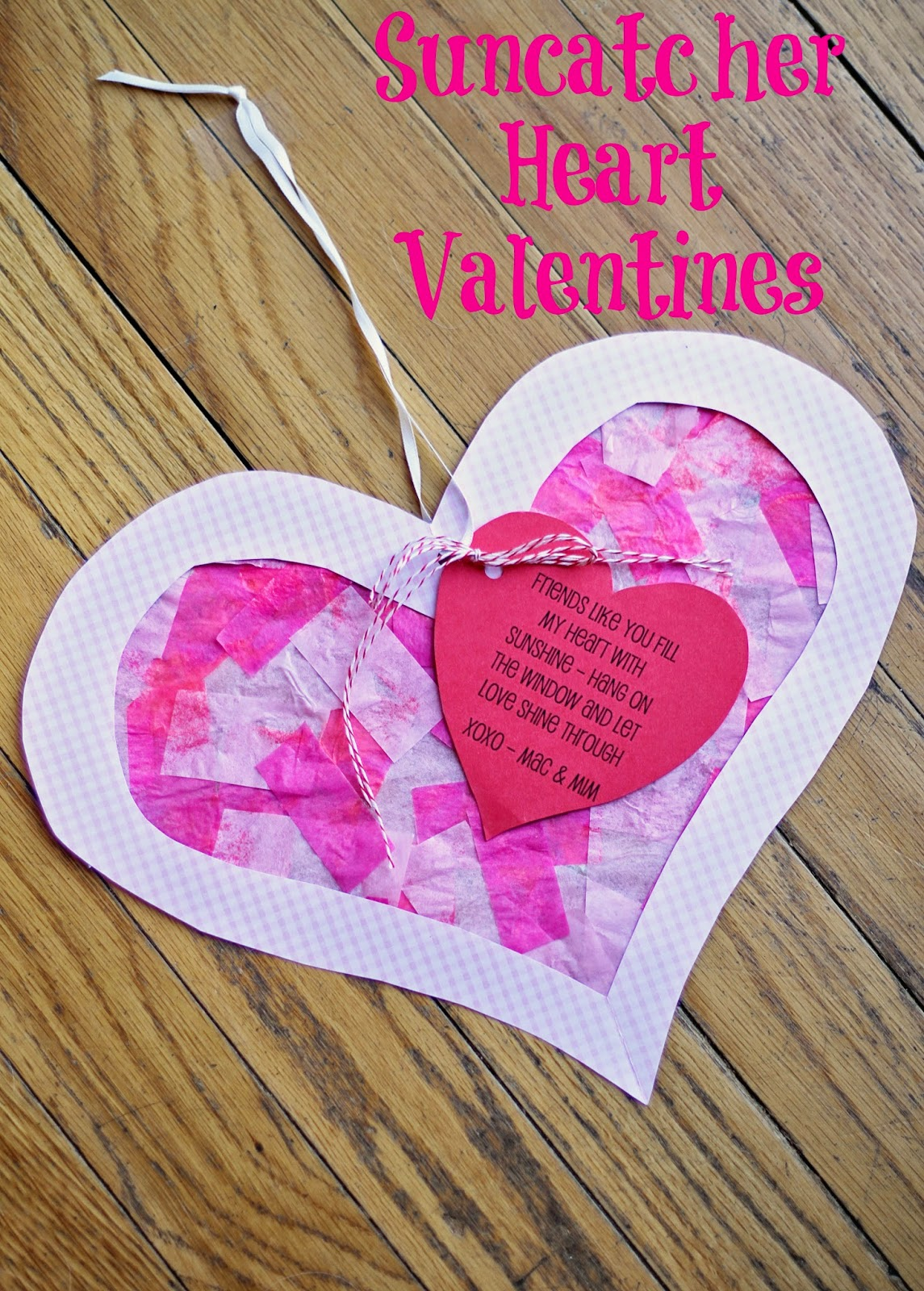 running from the law diy valentine heart suncatchers
