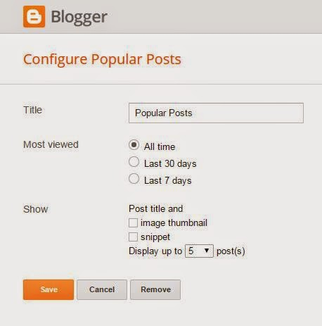 Widget Popular Posts Blog SEO
