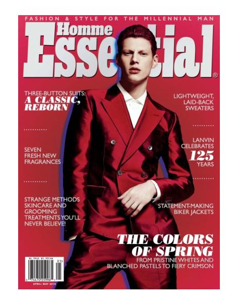 Nemanja Maksic wears Dolce & Gabbana in Essential Homme
