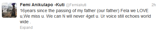 Fela Anikulapo Kuti's remembrance Day