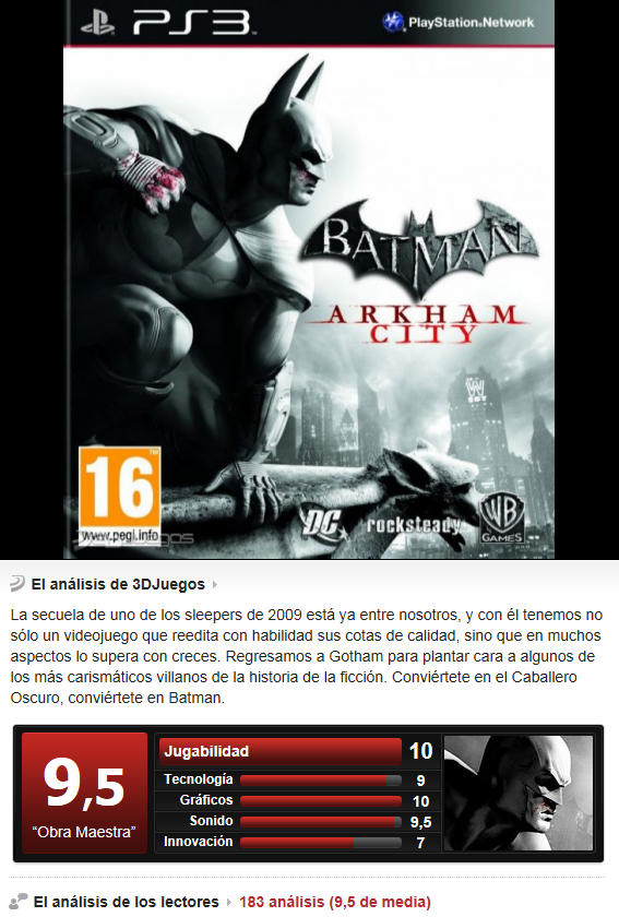 Batman: Arkham City [PS3][Esp][3.55]