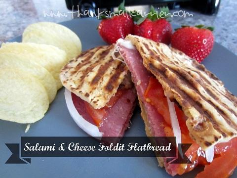Salami flatbread