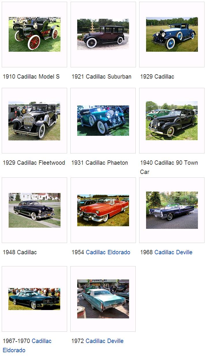 Các dòng xe Cadillac & mẫu xe Cadillac từ trước đến nay