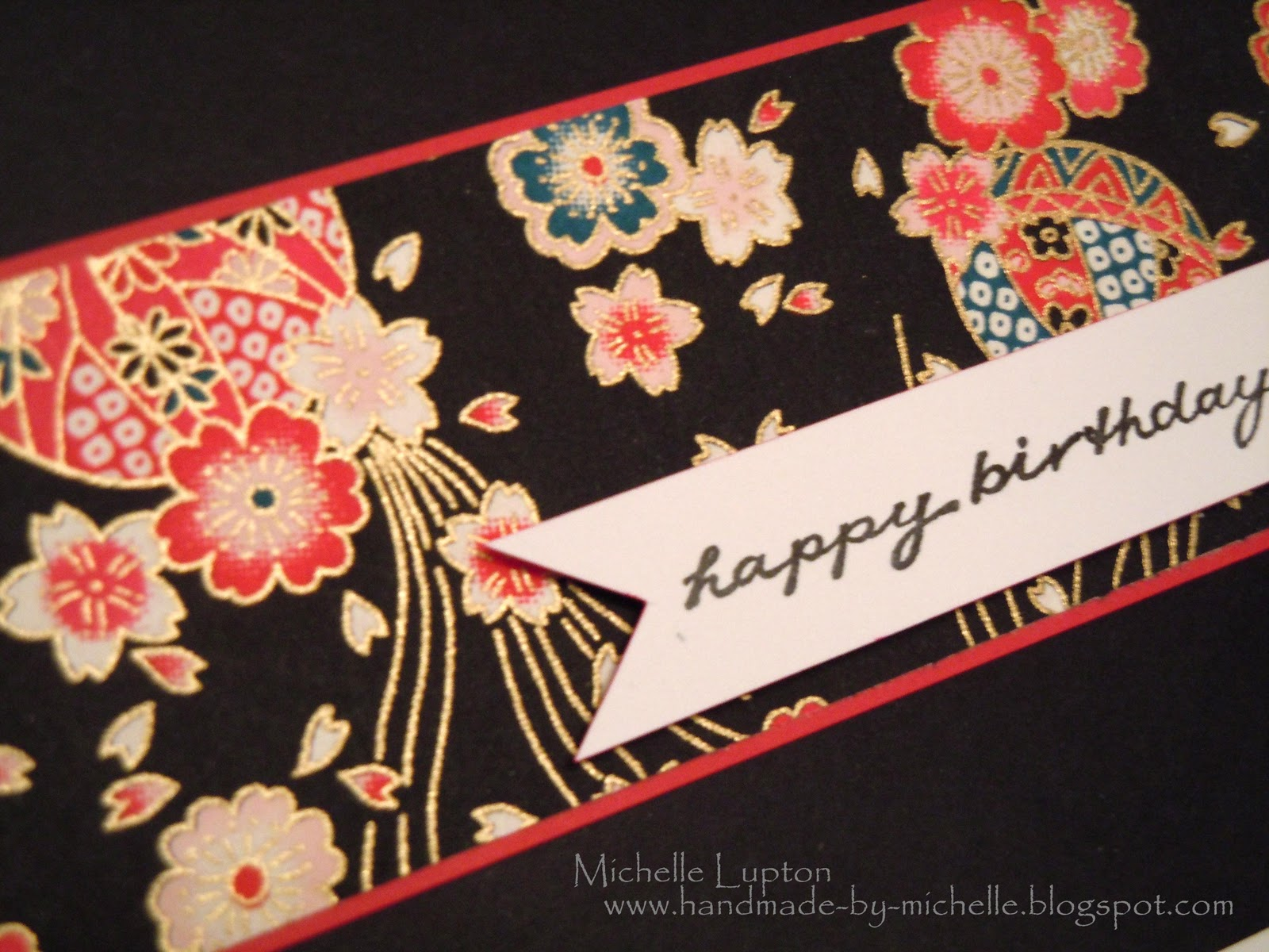 Handmade by Michelle Happy birthday Kate – Japanese Birthday Cards