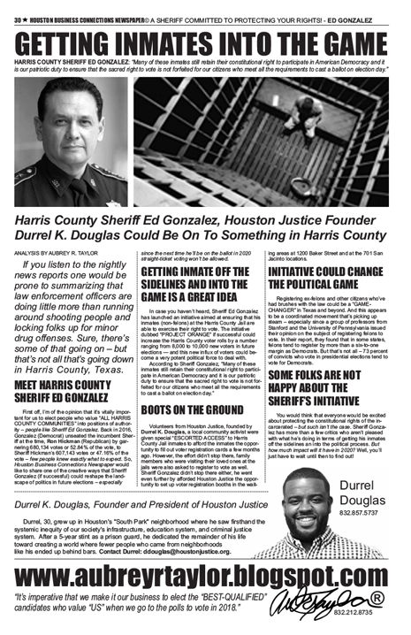 PAGE 30 - HOUSTON BUSINESS CONNECTIONS NEWSPAPER© RUNOFF ELECTION - PART 1 OF 3