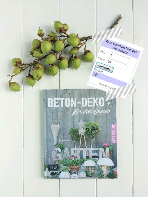 Beton, DIY, mit Beton basteln, Gartendeko, Johanna Rundel, Buch, kreativ, Verlosung, Gewinnerin