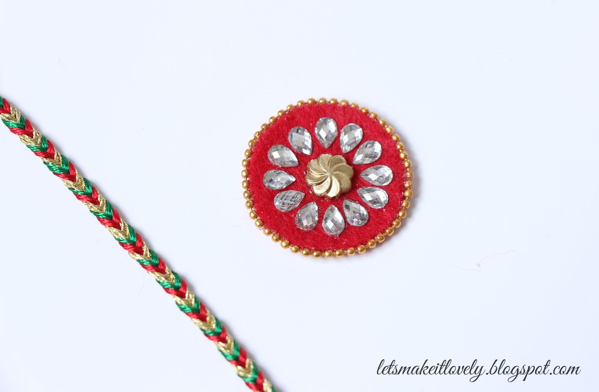 Make a Rakhi for Raksha Bandhan. Gift for brother.