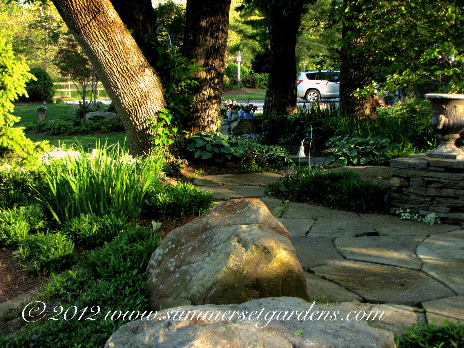 garden design a backyard path and landscape design in ny