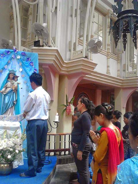 Catedral católica da Assunção em Katmandu, capital do Nepal.
