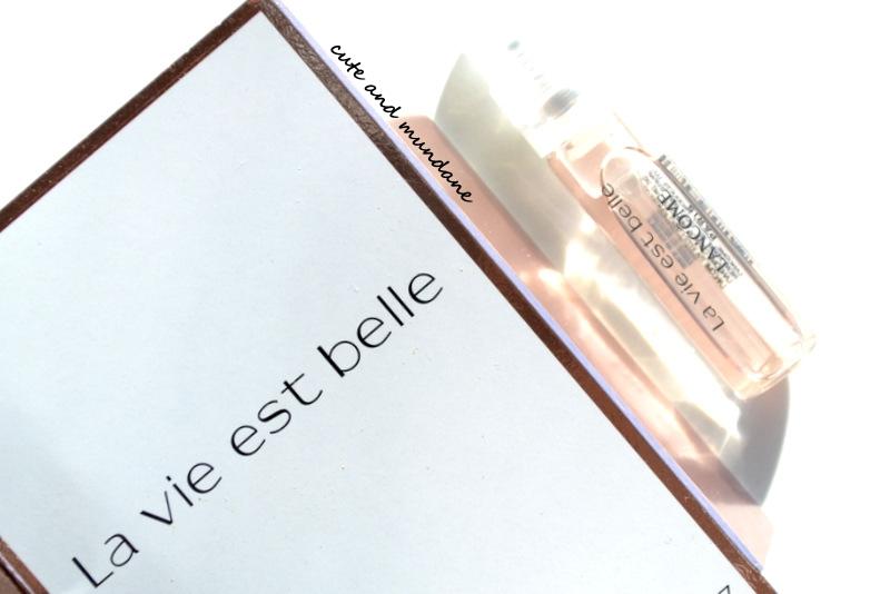 Cute and Mundane: Lancome La Vie Est Belle L'Eau de Parfum review