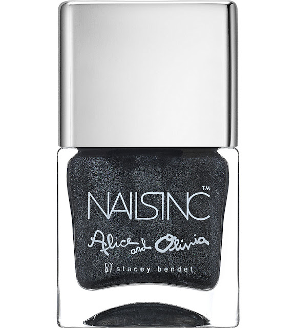 nails inc gun metal nail polish, dark silver nail polish, sparkly grey nail polish,