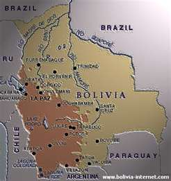 Mapa  de Bolivia