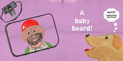 Baby Beards! - Baby Book for recording eating milestones! Add your own photos!