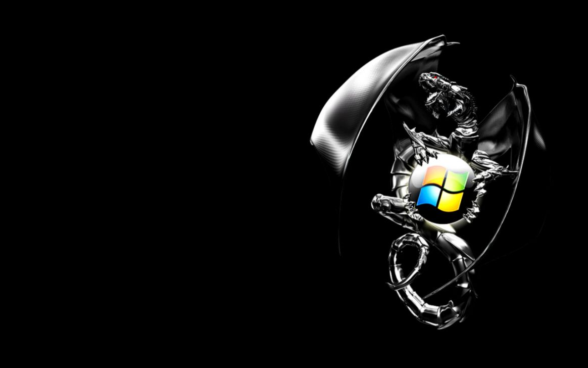 Windows 7 Black Logo 20 34813 HD Screensavers  HD Image Wallpaper